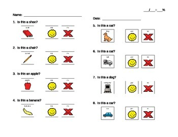 Yes / No Questions Worksheet