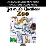 Yes No Questions ZOO for Autism Special Education Speech Therapy
