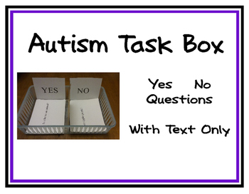 Yes No Questions for Autism Task Box