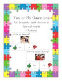 Yes No Questions for Autism or Special Needs- Actions