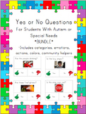 Yes No Questions for Autism or Special Needs- BUNDLE
