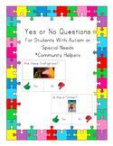 Yes No Questions for Autism or Special Needs- Community Helpers