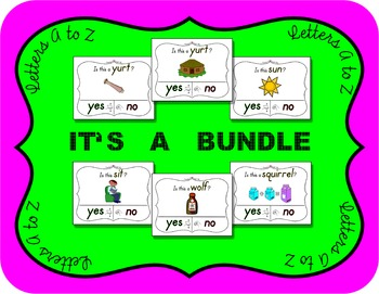 Yes No Questions w/ Visuals ~ Alphabet Bundle ~ Huge 30+% Savings