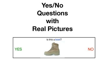 Yes No Questions with Real Pictures