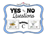 Yes No Questions with Visuals ~ Letter C Sound / Sight Rec