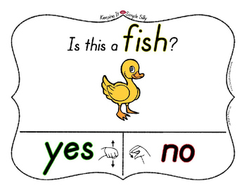 Yes No Questions with Visuals ~ Letter F Sound / Sight Recognition Speech