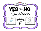 Yes No Questions with Visuals ~ Letter F Sound / Sight Rec