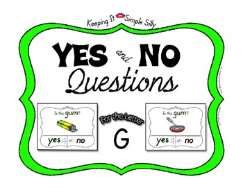Yes No Questions with Visuals ~ Letter G Sound / Sight Recognition Speech