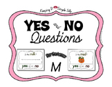 Yes No Questions with Visuals ~ Letter M Sound / Sight Rec