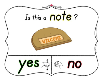 Yes No Questions with Visuals ~ Letter N Sound / Sight Recognition Speech
