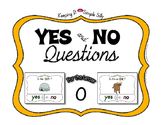 Yes No Questions with Visuals ~ Letter O Sound / Sight Rec