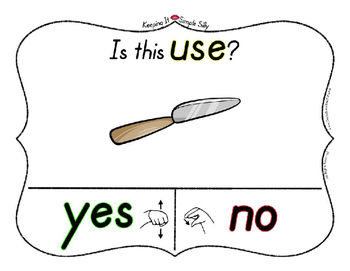 Yes No Questions with Visuals ~ Letter U Sound / Sight Recognition Speech
