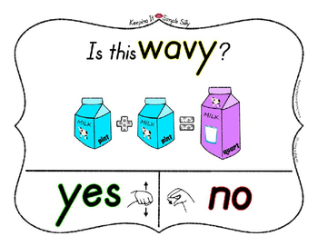 Yes No Questions with Visuals ~ Letter W Sound / Sight Recognition Speech