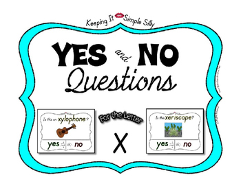 Yes No Questions with Visuals ~ Letter X Sound / Sight Recognition Speech