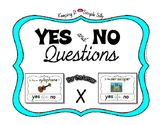 Yes No Questions with Visuals ~ Letter X Sound / Sight Rec