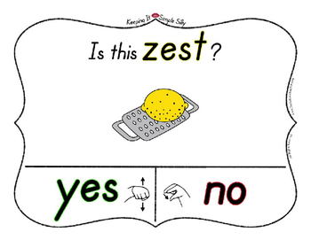 Yes No Questions with Visuals ~ Letter Z Sound / Sight Recognition Speech