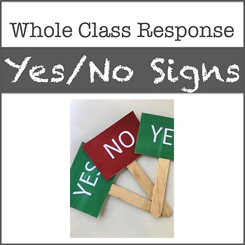 Yes No Student Response Signs