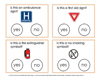 Yes/No Task Cards  Life Skills:  Safety