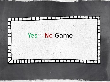 Yes/No Thesis Game