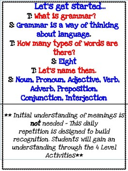 Yes They Can!  Grammar for Primary Students: A Level By Level Approach