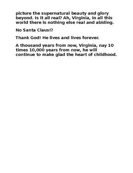 Yes, Virginia!