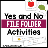 Yes and No File Folder Activities