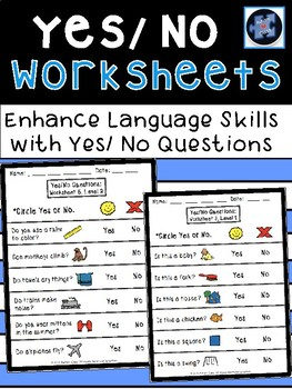 Yes and No Worksheets