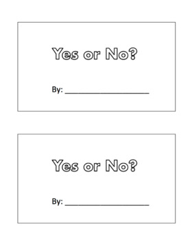 Yes or No? - A sight word Book