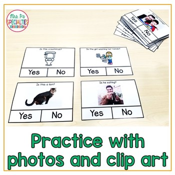 Yes or No: Answering questions FREEBIE (Special Education & Autism Resource)