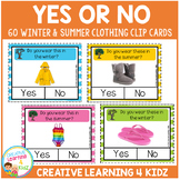 Yes or No Clothing Clip Cards