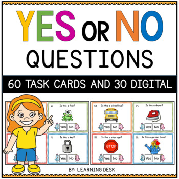 Yes No Question Cards (Closed Questions) Bundle