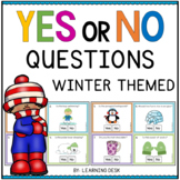 Yes No Question Cards (Closed Questions) for Winter