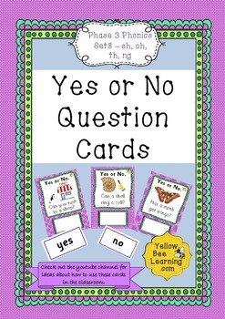 Yes or No Question Cards Phonics Phase 3 Set 8 - sh ch th ng