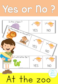 Yes or No Questions - At the zoo - Special Education