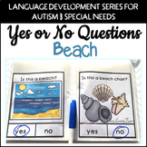Yes No Questions Beach for Autism Special Education Speech Therapy