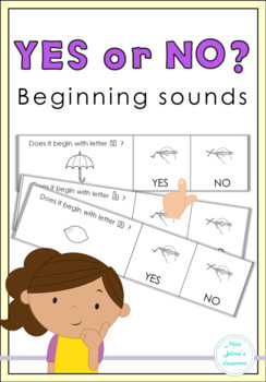 Yes or No Questions - Beginning Sounds - Special Education