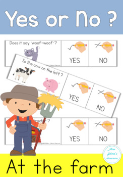 Yes or No Questions - Farm - Special Education