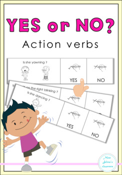 Yes or No Questions Freebie ( action verbs )