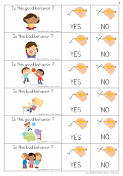 Yes or No Questions - Good or bad behavior - Special Education