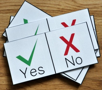 Yes or No Questions Set (w/Real Photos)