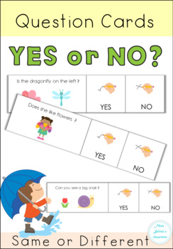Yes or No Questions - Spring - Special Education