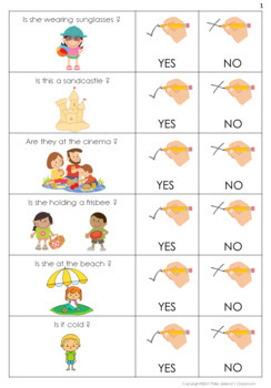 Yes or No Questions - Summer - Special Education