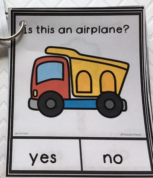Yes No Questions Toys for Autism Special Education Speech Therapy