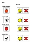 Yes or No Questions Mini-Worksheet