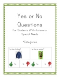 Yes or No Questions for Autism or Special Needs- Categories