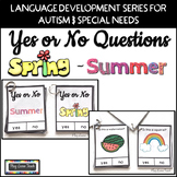 Yes No Questions Spring and Summer for Autism Special Education Speech Therapy
