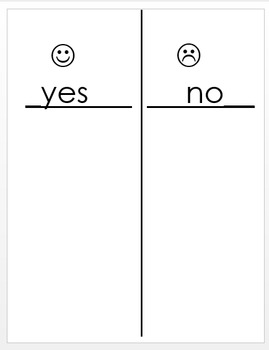 Yes or No T-Chart