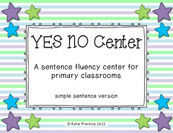 Yes/No Center: Simple Sentence Version
