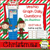Christmas Activity:  Yes/No Graph Questions (editable)