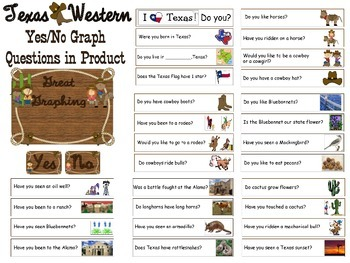 Yes/No Graph Questions about Texas (Western)